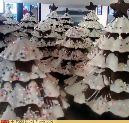 best of the week,chocolate,Forest,icing,sprinkles,trees,winter