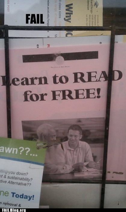 Reading Pamphlet FAIL