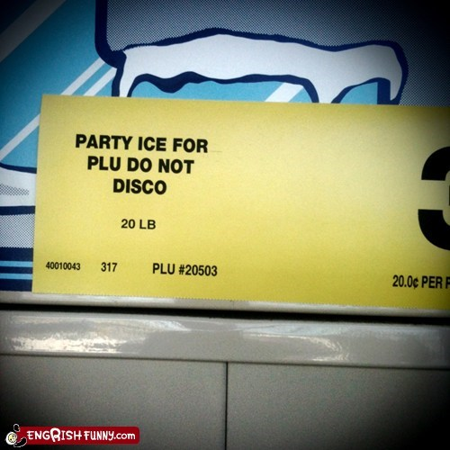 Party Ice and Dancing Don't Mix