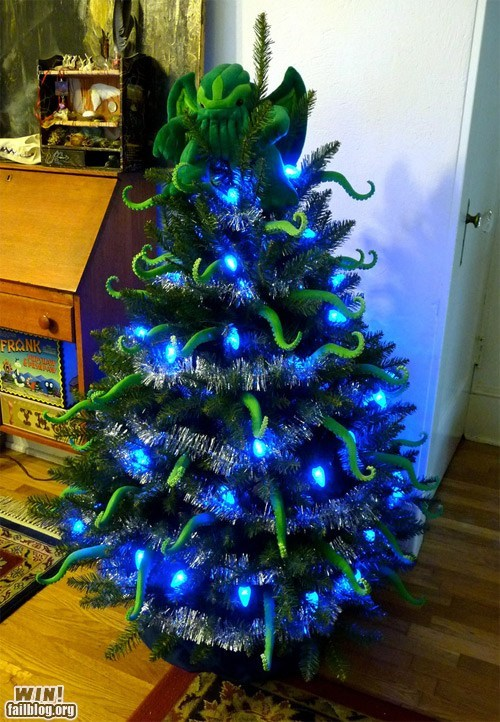 christmas,christmas tree,cthulu,decorations,g rated,Hall of Fame,lovecraft,nerdgasm,win