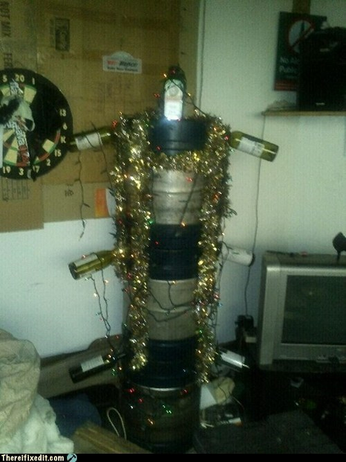 alcohol,christmas,christmas tree,DIY,keg