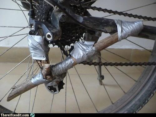 bad puns,bike,duct tape,gear