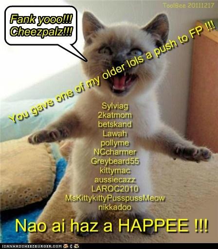 Fank yooo!!!  Cheezpalz!!!