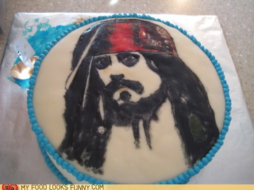 cake,captain jack sparrow,Johnny Depp,pirates of