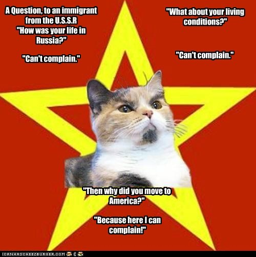 Lenin Cat: Welcome to America, the Land of Whiners