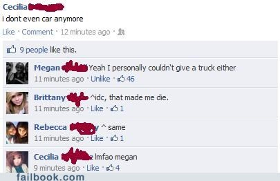 Failbook: And Not a Single Truck Was Given