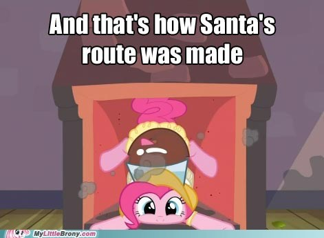 Delivering Presents Pinkie Style