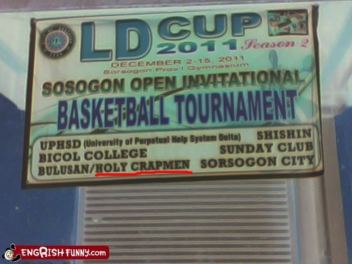 The Holy Crapmen: Sosogon's most feared team