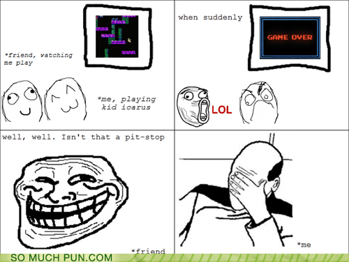 character,game,groan-inducing,kid icarus,name,picard,pit,pit stop,Rage Comics,video game