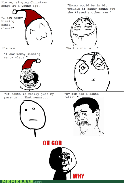 Rage Comics: Oh God, She's Sitting On Santa's Lap