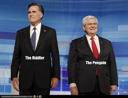 batman,Mitt Romney,newt gingrich,political pictures