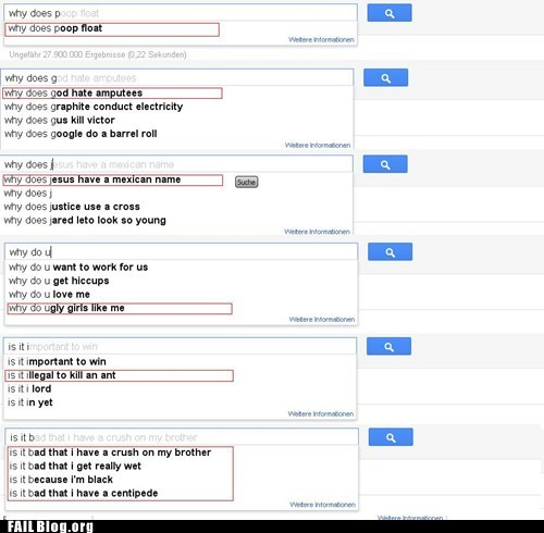 AutoComplete FAILs