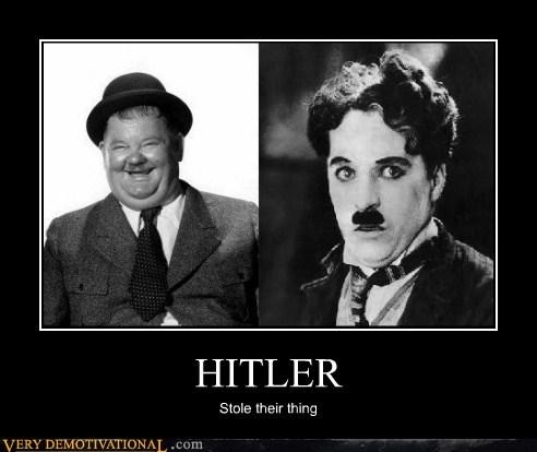 charlie chaplin,hilarious,hitler,mustache,Oliver Hardy