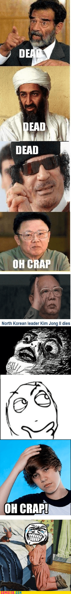 best of week,dead,justin bieber,Kim Jong-Il,oh crap,the internets