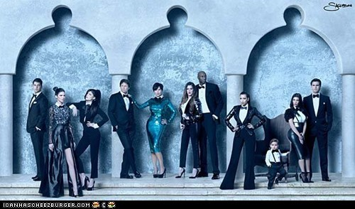 The 2011 Kardashians Christmas card! God help us.