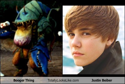 Booger Thing Totally Looks Like Justin Beiber
