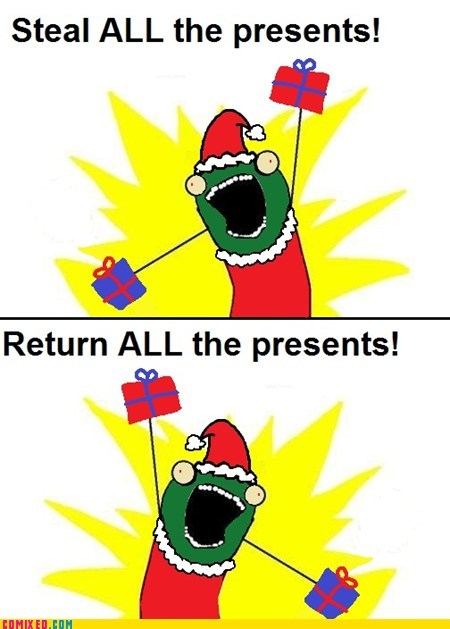 all the things,happy holidays,merry christmas,presents,the Grinch,the internets