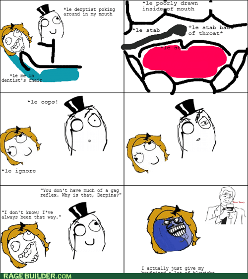 dentist,i lied,naughty,Rage Comics,sexytimes