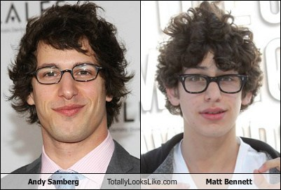 Andy Samberg Totally Looks Like Matt BennettMatt Bennett And Andy Samberg