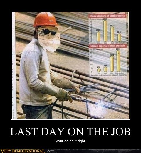 LAST DAY ON THE JOB