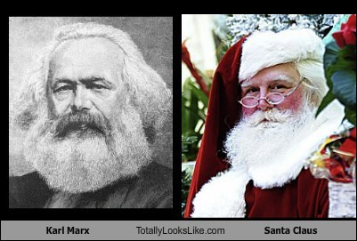 Karl Marx Totally Looks Like Santa Claus