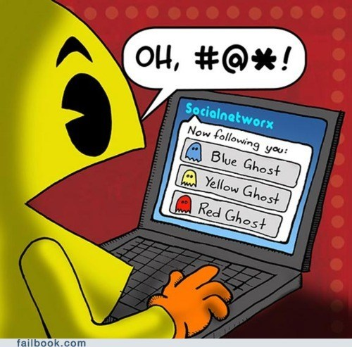 comic,Featured Fail,following,ghost,ghosts,pacman