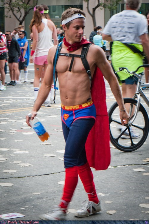 Superman On His Day Off