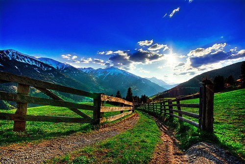 austria,awesome,clouds,europe,fence,getaways,Hall of Fame,mountains,road,vivid colors