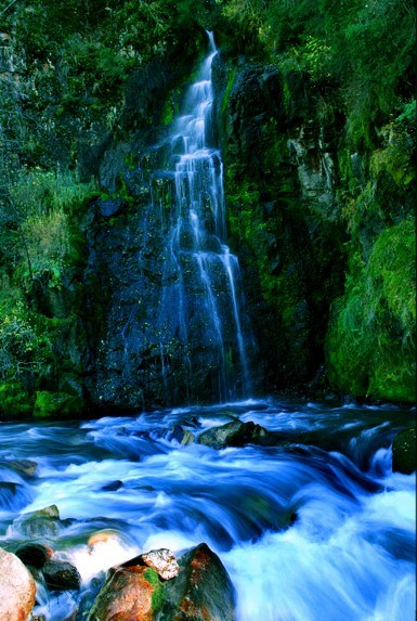 blue,getaways,green,time lapse,unknown location,water,waterfall