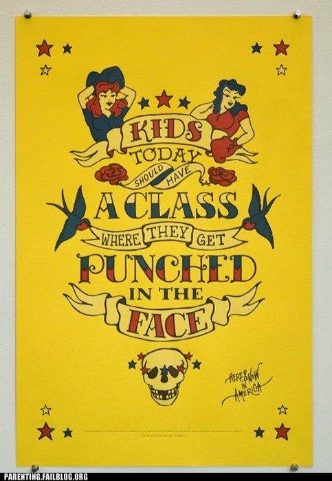 class,education,kids are dumb,Parenting Fail,punch,punishment,school