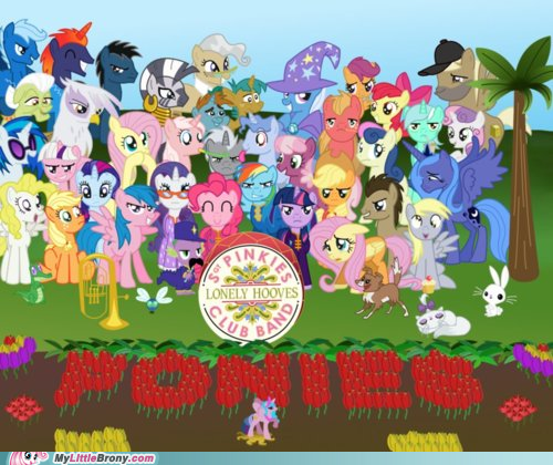 beatles,crossover,lonely hooves,make it happen,ponies