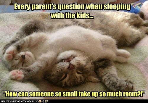 Every parent's question when sleeping with the kids...