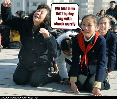 chuck norris,chuck norris joke,crying,North Korea,north koreans crying,Pundit Kitchen,Sad