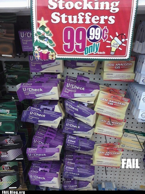 birth control,christmas,FAIL Gifts For Your Friends on The Naughty List,juxtaposition,pregnancy