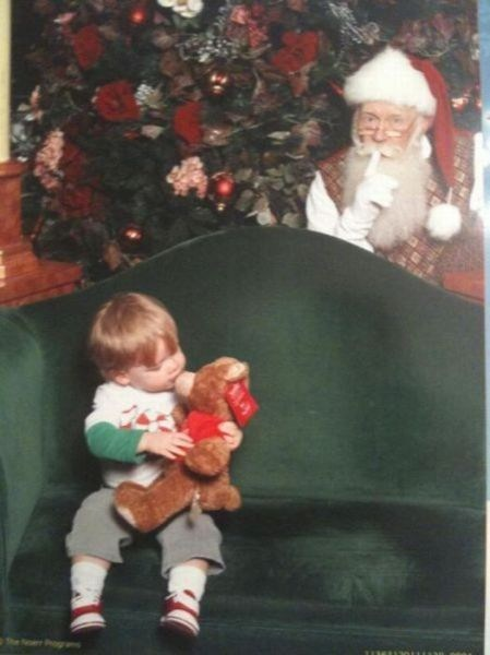 creeper,mall,santa,teddy bear,toy