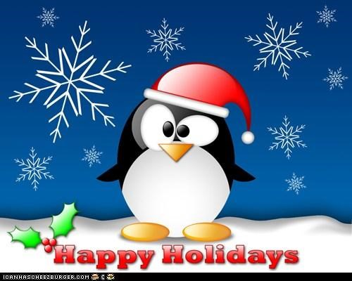 Happy Holidays From Linux Tux!