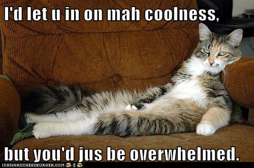 I'd let u in on mah coolness,  but you'd jus be overwhelmed.