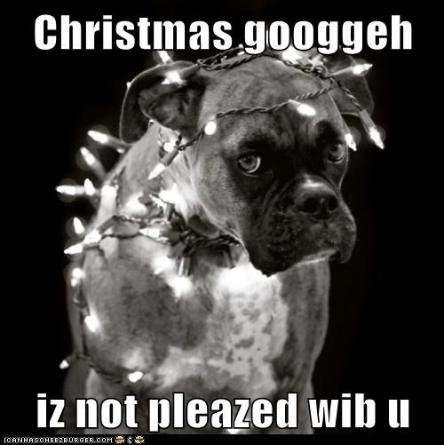 Christmas googgeh  iz not pleazed wib u