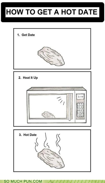 date,double meaning,hot,hot date,instructions,literalism