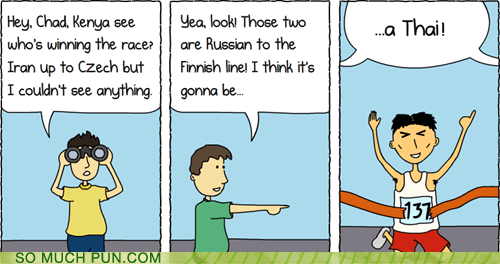 can you,chad,check,czech,double meaning,finish,finnish,Hall of Fame,homophone,homophones,kenya,literalism,race,racing,rushing,russian,Thai,tie