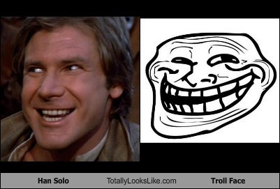 Han Solo Totally Looks Like Troll Face