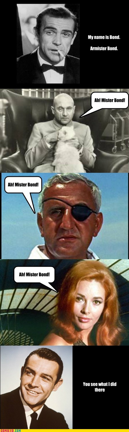 bond,I see what you did there,mister bond,the internets