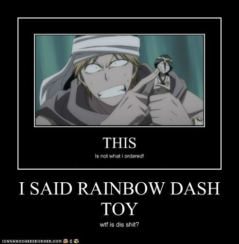 I SAID RAINBOW DASH TOY