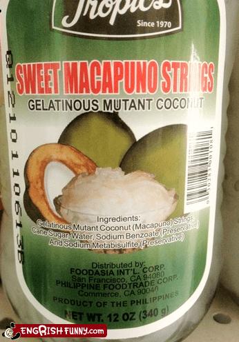 Appetizing,mutant coconut,Supervillain pantry