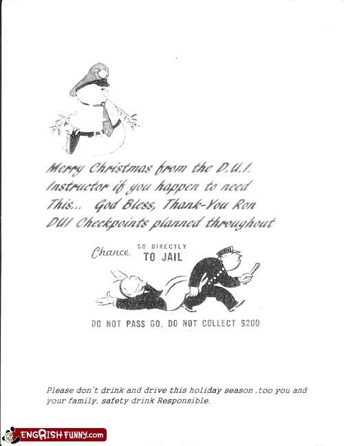 christmas,dui,Go Directly To Jail,merry christmas