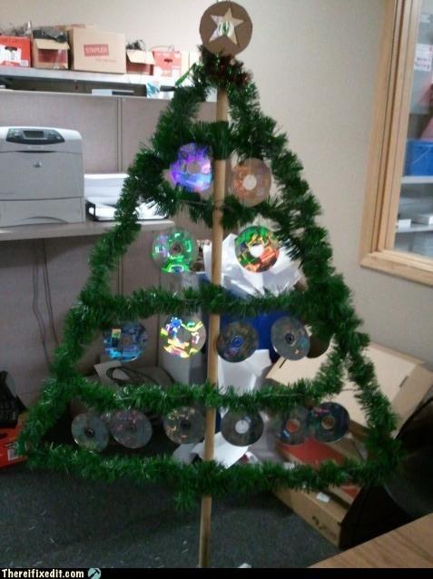 christmas,merry christmas,monday thru friday,office tree,trees