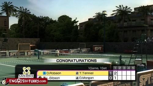 congraturations,Engrish Tennis,tennis