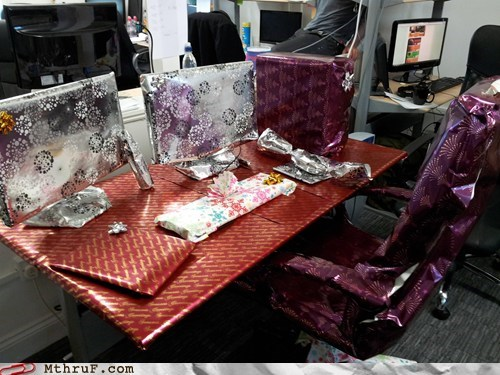 christmas,cubicle prank friday,Pranked on Vacation