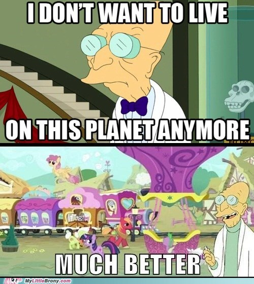 Professor Farnsworth Wants to Live in Ponyville