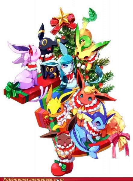 art,best of week,christmas tree,eeveelutions,presents
